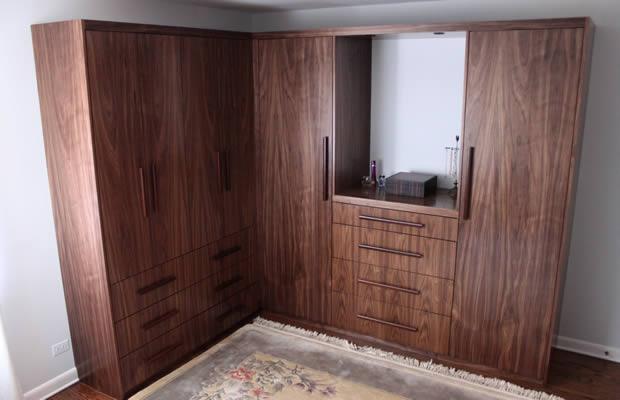 L Shaped Bedroom Wardrobe Designs