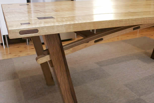 Rohan ward designs furniture design and woodworking for Table bridge