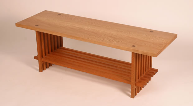MIssionStyleCoffeeTable on furniture table chairs